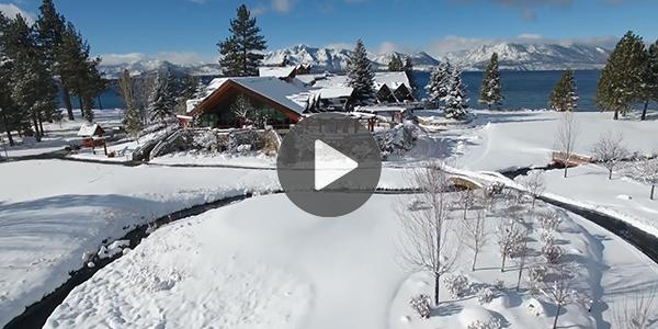 Lakefront Edgewood Tahoe in Winter