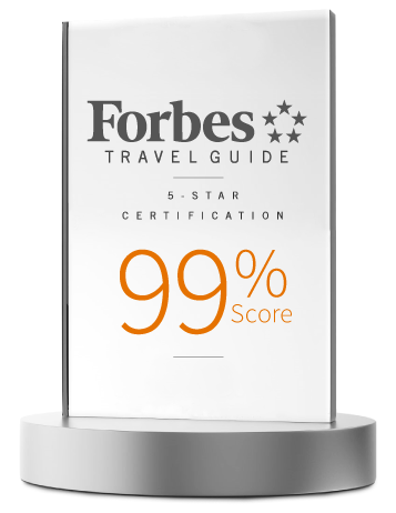 Forbes Travel Guide 5 Star Certification Award for Luxury Properties